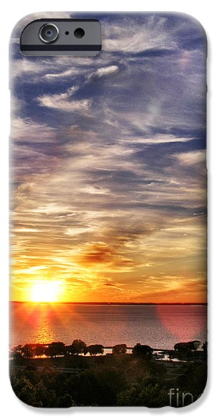 Appleton Photographs iPhone Cases - Sunset Smokestack iPhone Case by Shutter Happens Photography