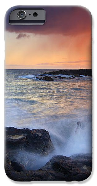 Sunset Storm Passing iPhone Case by Mike  Dawson