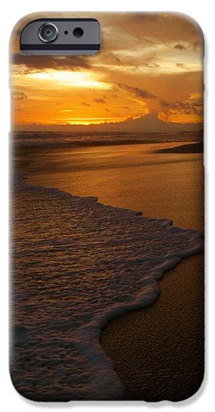 Sunset Surf Playa Hermosa Costa Rica iPhone Case by Michelle Wiarda
