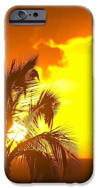Sunset, Wailea, Maui, Hawaii, Usa iPhone Case by Stuart Westmorland