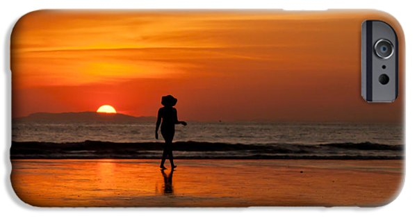 Jaco iPhone Cases - Sunset Walk iPhone Case by Anthony Doudt