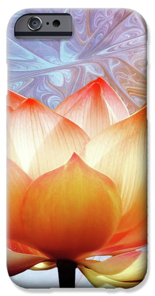 Sunshine Lotus iPhone Case by Photodream Art