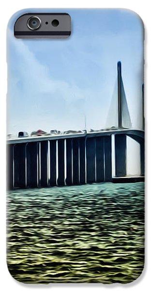 Sunshine Skyway Bridge - Tampa Bay iPhone Case by Bill Cannon