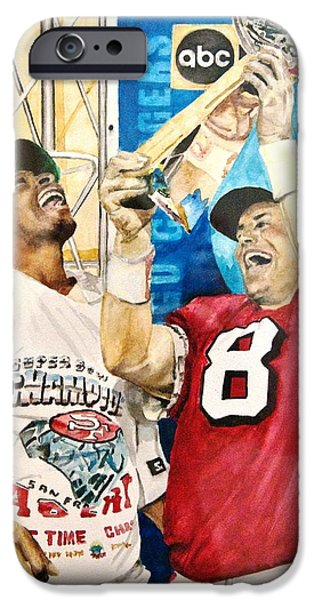 Best Sellers -  - Young Paintings iPhone Cases - Super Bowl Legends iPhone Case by Lance Gebhardt