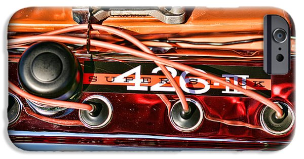 Woodward iPhone Cases - Super Stock SS 426 III HEMI Motor iPhone Case by Gordon Dean II