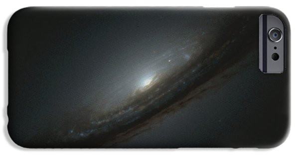 Astrophysics iPhone Cases - Supernova In Galaxy iPhone Case by Nasaesastscihigh-z Supernova Search Team