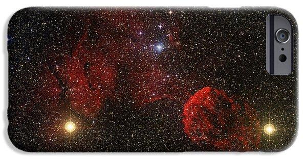 444 iPhone Cases - Supernova Remnant Ic 443 iPhone Case by Mpia-hd, Birkle, Slawik
