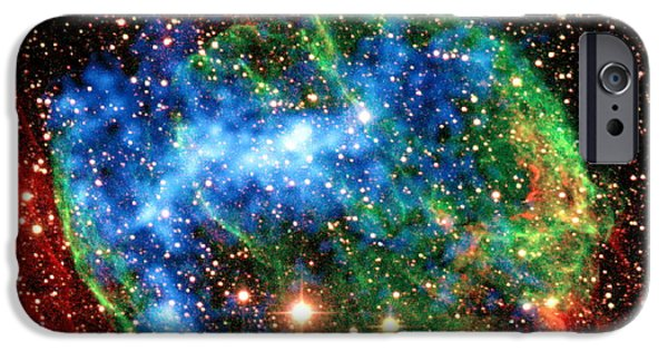 Gamma Ray Burst iPhone Cases - Supernova Remnant W49b iPhone Case by Science Source