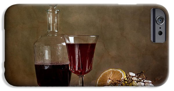 Raw iPhone Cases - Supper with Wine iPhone Case by Nailia Schwarz