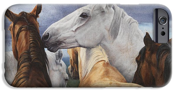 Barns Paintings iPhone Cases - Support Group iPhone Case by JQ Licensing