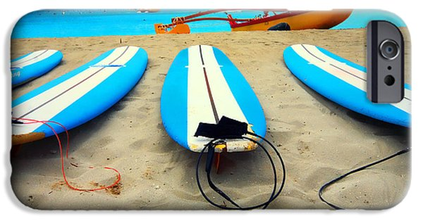 Canoe iPhone Cases - Surf iPhone Case by Cheryl Young