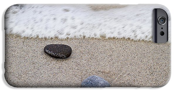 Symetry iPhone Cases - Surf Sand and Stones iPhone Case by TB Sojka