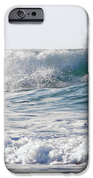 Surfers at Porthtowan Cornwall iPhone Case by Brian Roscorla