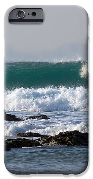 Surfing in Cornwall iPhone Case by Brian Roscorla