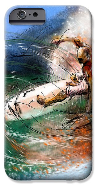 Surfscape 03 iPhone Case by Miki De Goodaboom