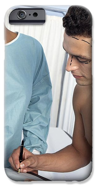 Surgery Consent Form iPhone Case by Adam Gault