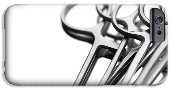 Stainless Steel iPhone Cases - Surgical Forceps iPhone Case by Tek Image
