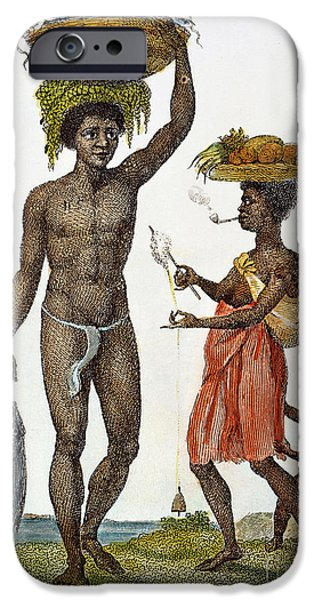 1796 iPhone Cases - Surinam: Slave Family, 1796 iPhone Case by Granger