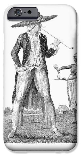 1796 iPhone Cases - Surinam: Slave Owner, 1796 iPhone Case by Granger