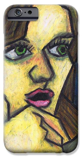 Surprised Girl iPhone Case by Kamil Swiatek