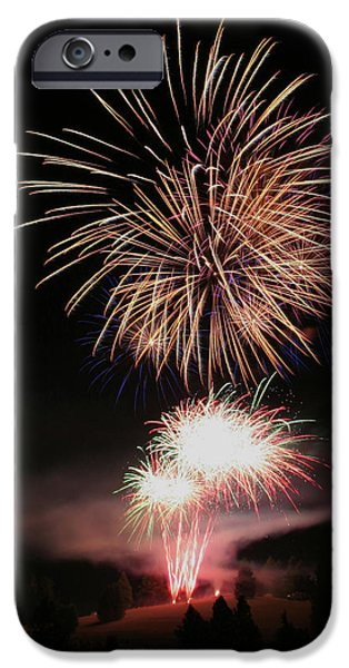 Streams Of Sparks iPhone Cases - Surrealistic Hillside iPhone Case by David Patterson