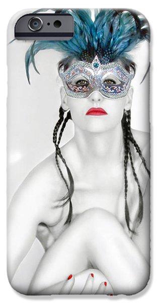 Survivor Art iPhone Cases - Survivor - Self Portrait iPhone Case by Jaeda DeWalt