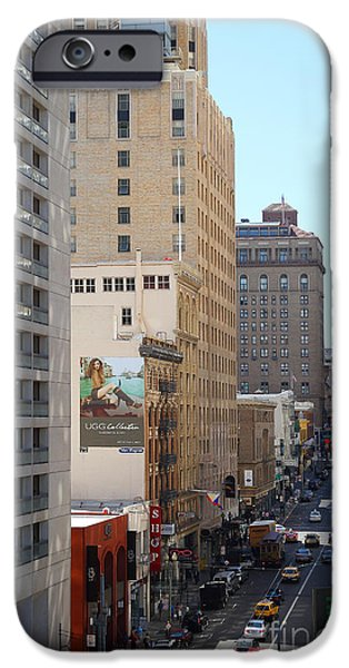 Sutter Street West View iPhone Case by Wingsdomain Art and Photography