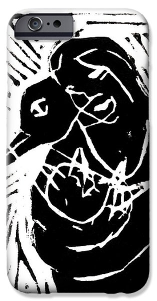 Swan and Human Mothers iPhone Case by Anon Artist