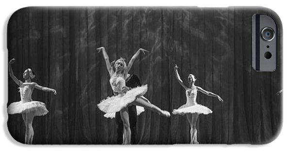 Ballet Dancers iPhone Cases - Swan Lake  White Adagio  Russia 4 iPhone Case by Clare Bambers