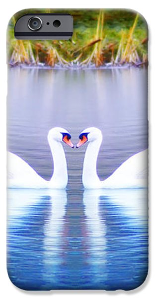Swan Love iPhone Case by Bill Cannon