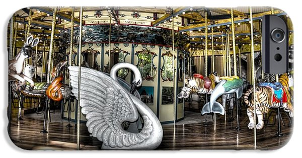 The Tiger iPhone Cases - Swan Seat at the Carousel  iPhone Case by Michael Garyet