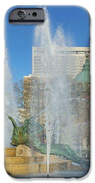 Swann Fountain at Logan's Circle iPhone Case by John Greim