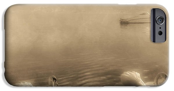 Swans... iPhone Cases - Swans iPhone Case by Joana Kruse