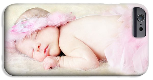 New Generations iPhone Cases - Sweet Baby Girl iPhone Case by Darren Fisher