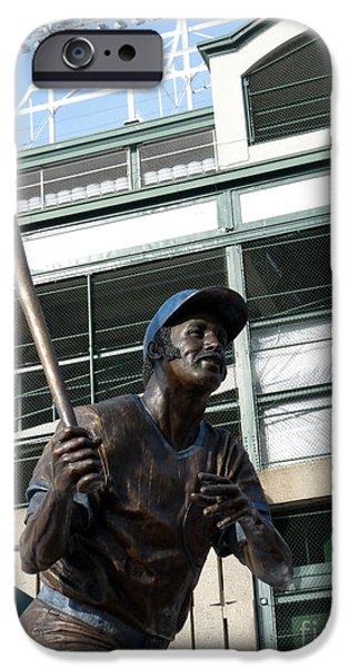 Wrigley Field iPhone Cases - Sweet Billy Williams iPhone Case by David Bearden