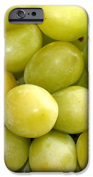 Sweet Green Grapes iPhone Case by Barbara Griffin