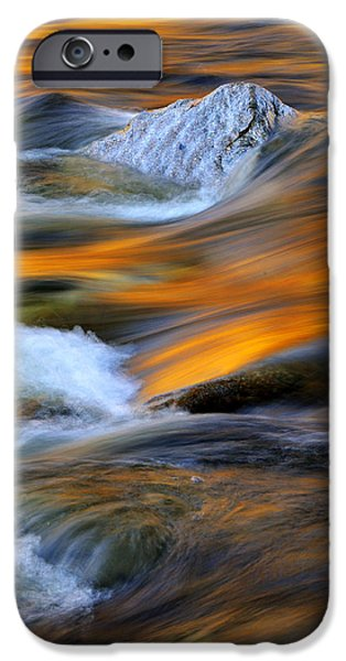 Nature Abstract iPhone Cases - Swirls and Patterns of Nature - Swift River Reflections iPhone Case by Thomas Schoeller