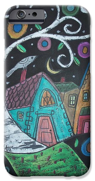 House Pastels iPhone Cases - Swirly Birch iPhone Case by Karla Gerard