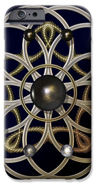 Swirly Brooch iPhone Case by Hakon Soreide