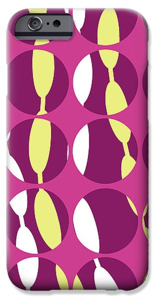 Louisa iPhone Cases - Swirly Stripe iPhone Case by Louisa Knight