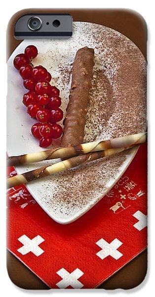 Swiss chocolate praline iPhone Case by Joana Kruse