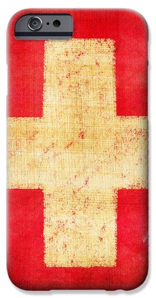 Switzerland flag iPhone Case by Setsiri Silapasuwanchai