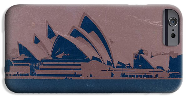 House Digital Art iPhone Cases - Sydney Australia iPhone Case by Naxart Studio