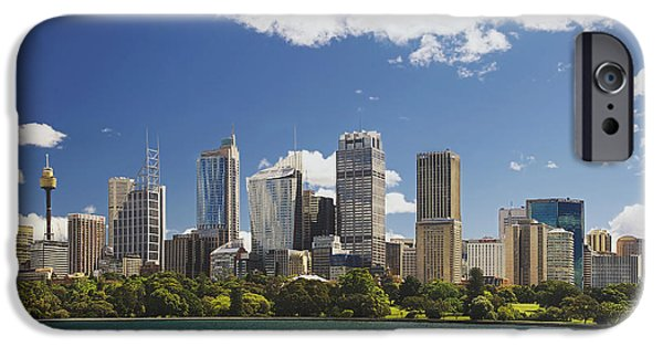 Financial Interest iPhone Cases - Sydney Downtown Skyline From Farm Cove iPhone Case by Tatiana Boyle