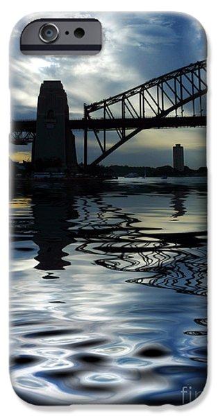 Architecture iPhone Cases - Sydney Harbour Bridge reflection iPhone Case by Sheila Smart