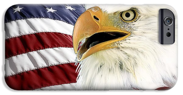 July 4th iPhone Cases - Symbol of America iPhone Case by Teresa Zieba