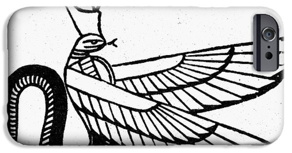Serpent iPhone Cases - Symbol: Winged Serpent iPhone Case by Granger