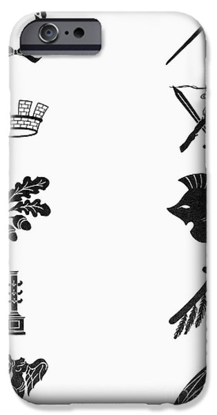Nike iPhone Cases - Symbols: Victory And War iPhone Case by Granger