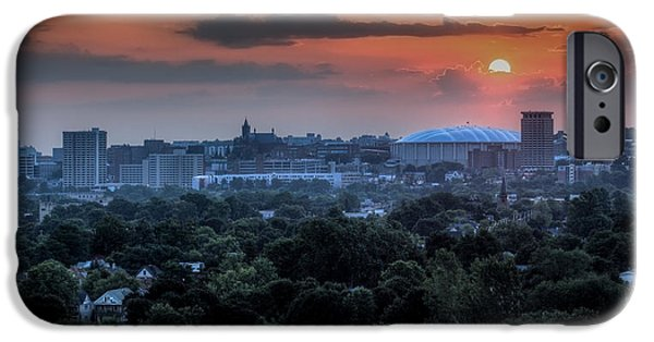 Carrier iPhone Cases - Syracuse Sunrise iPhone Case by Everet Regal