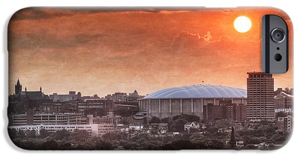 Carrier iPhone Cases - Syracuse Sunrise over the Dome iPhone Case by Everet Regal